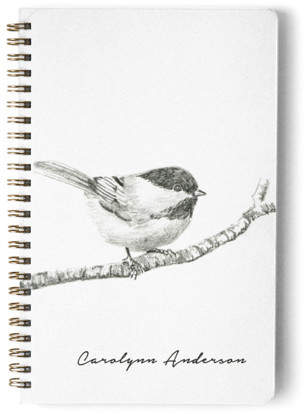 Chickadee Day Planner, Notebook, or Address Book