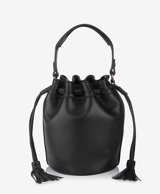 GiGi New York Genevieve Bucket Bag, Black Napa Luxe