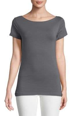 Lord & Taylor Petite Cotton-Blend Tee
