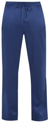 MENG Wide-leg silk-satin pyjama trousers