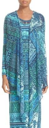 Women's Fuzzi Print Wrap Cardigan $385 thestylecure.com
