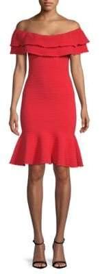 Milly Knit Flounce Dress