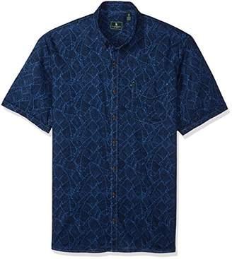 G.H. Bass & Co. Men's Size Big Salt Cove Print Short Sleeve Shirt