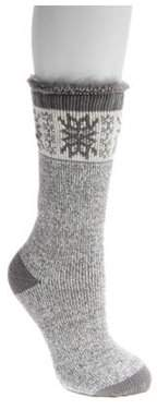 "Muk Luks Women's Heat Retainer Thermal Insulated Socks 8"" x 4.25"""