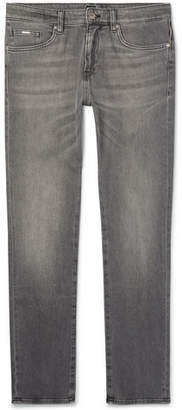 HUGO BOSS Delaware Slim-Fit Stretch-Denim Jeans - Men - Gray