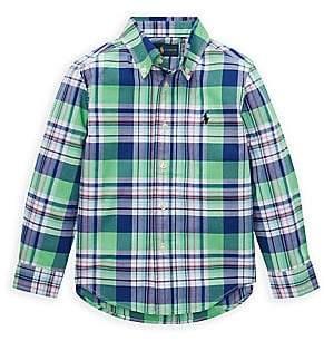 Ralph Lauren Little Boy's Long-Sleeve Plaid Shirt