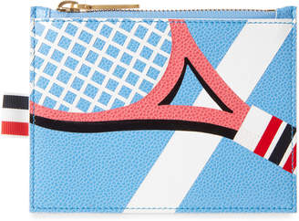 Thom Browne Light Blue Leather Coin Purse