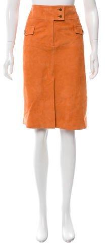 ValentinoValentino Knee-Length Suede Skirt