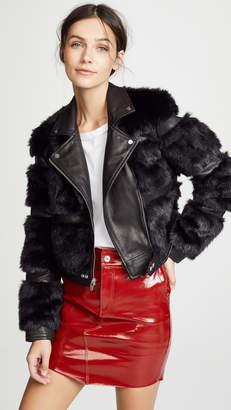 The Mighty Company Bristol Faux Fur Moto Jacket
