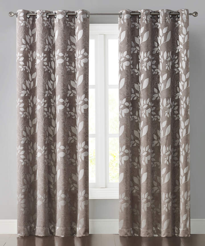 Gray Jacquard Abby Curtain Panel