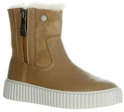 Pajar Sport Caline Leather Shearling Platform Boots