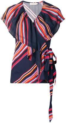 Tory Burch striped V-neck blouse