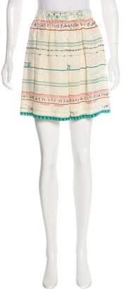 Vena Cava Printed Silk Mini Skirt
