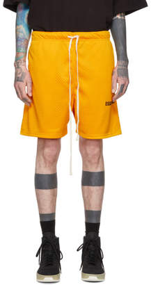 Essentials Yellow Mesh Logo Shorts