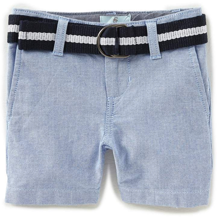 Little Boys 2T-7 Solid Belted Oxford Shorts
