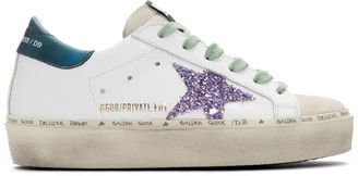Golden Goose SSENSE Exclusive White and Blue Limited Edition Hi Star Sneakers