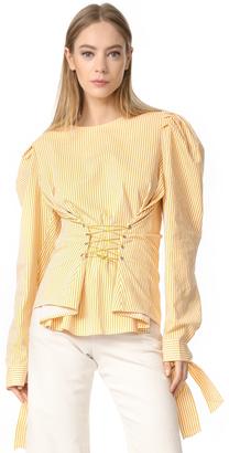 Style Mafia Stripe Corset Blouse $135 thestylecure.com