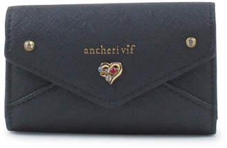 Ancheri (アンシェリ) - 【SAC'S BAR】アンシェリヴィフ ancheri vif キーケース VIF119 レトロ・プチ ネイビー