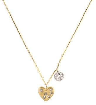 Meira T 14K Diamond Heart & Disc Pendant Necklace