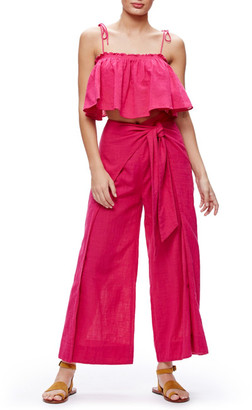 Free People Tropic Babe Crop Top & High Waist Pant Set $148 thestylecure.com