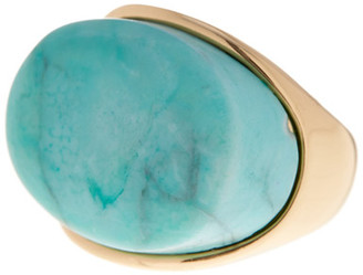 METAL & STONE Oval Turquoise Ring - Size 7 $19.97 thestylecure.com