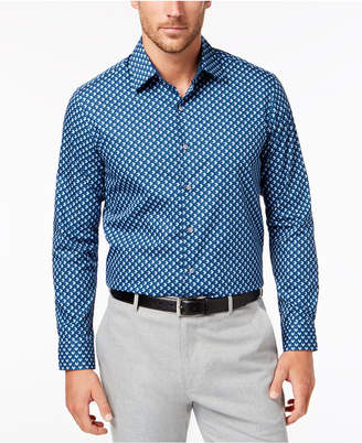 Tasso Elba Men's Geo-Print Shirt, Created for Macy's