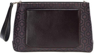 """Mischa Crossbody Leather Detail Clutch """"Rosewood"""""""