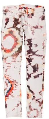 Etoile Isabel Marant Mid-Rise Watercolor Jeans