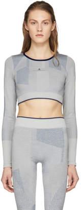 adidas by Stella McCartney Grey Training Seamless Block Crop Top