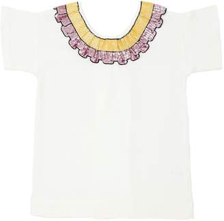 Sequined Cotton Jersey T-Shirt