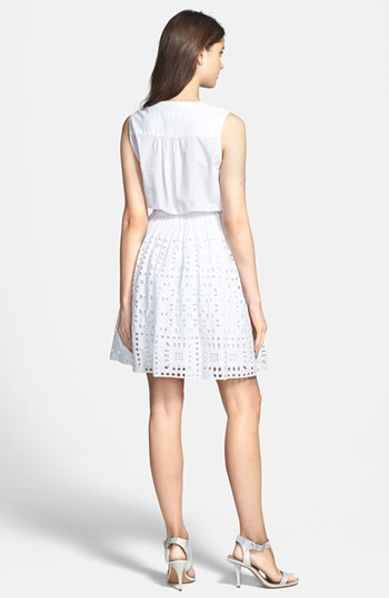 Vince Camuto Two by Eyelet Border Dress