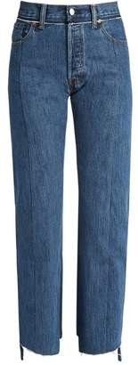 Vetements X Levi's Reworked Straight Leg Jeans - Womens - Blue