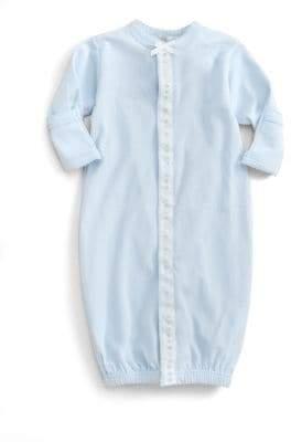 Royal Baby Baby Boy's Ribbon-and-Dot Convertible Gown