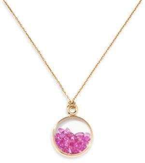 Aurelie Bidermann Baby Chivor Ruby & 18K Yellow Gold Medallion