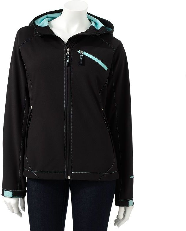 Free Country hooded water-resistant soft shell jacket
