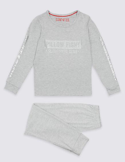 Marks and Spencer Long Sleeve Pyjamas (3-16 Years)