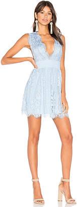 MAJORELLE Moonlit Dress in Blue $208 thestylecure.com