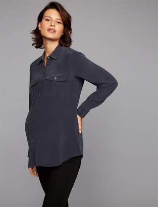 Rails Rhett Button Down Maternity Blouse
