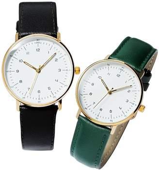 5c13607fae ベルーナ (ベルーナ) - ベルーナ 大きな文字盤で見やすい!シンプル腕時計 ブラック 1