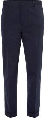 Joseph Navy Arthur Slim-Fit Stretch-Cotton Twill Trousers