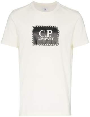 C.P. Company stitch logo print cotton t shirt