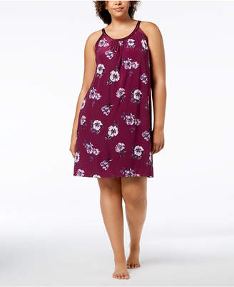 INC International Concepts I.n.c. Plus Size Floral-Printed Pleated Chemise