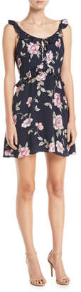 Cupcakes And Cashmere Loraine Floral-Print Ruffle Mini Dress