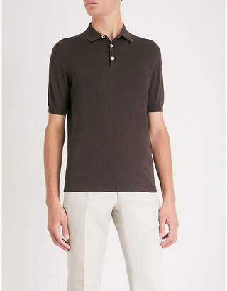 Eleventy Cotton-jersey polo shirt