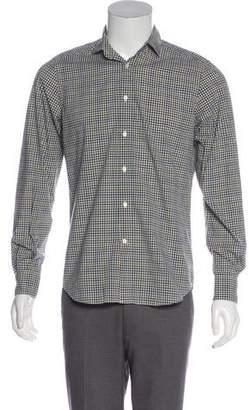 Boglioli Gingham Button-Up Shirt