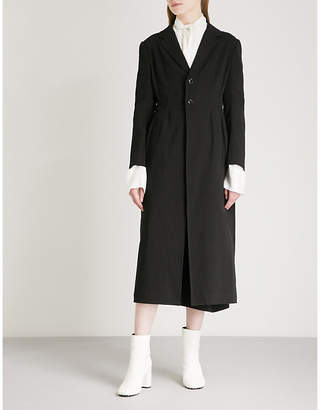 Y's Ys Fitted cotton-twill coat