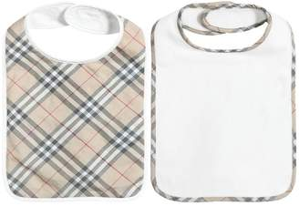 Burberry Set Of 2 Cotton Jersey & Terrycloth Bibs