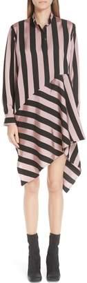 Marques Almeida Marques'Almeida Stripe Asymmetrical Shirtdress