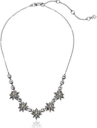 Marchesa stone/Blush/Silk Crystal Star Frontal Necklace