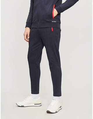5f2449d4d82f9 HUGO Logo-print stretch-cotton jersey jogging bottoms
